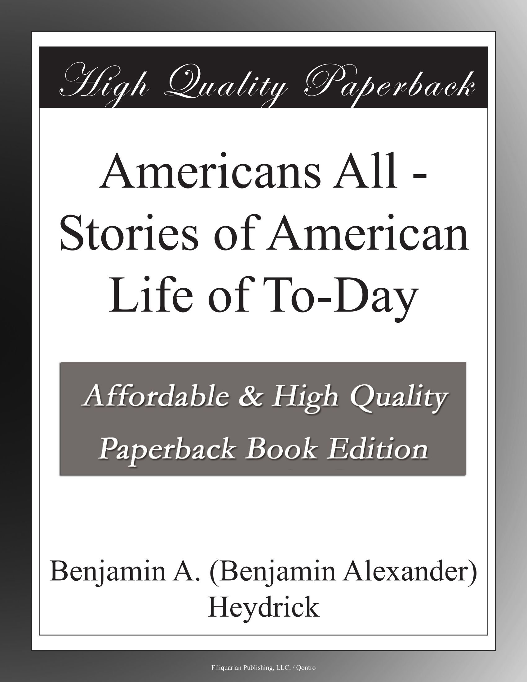 Americans All - Stories of American Life of To-Day pdf