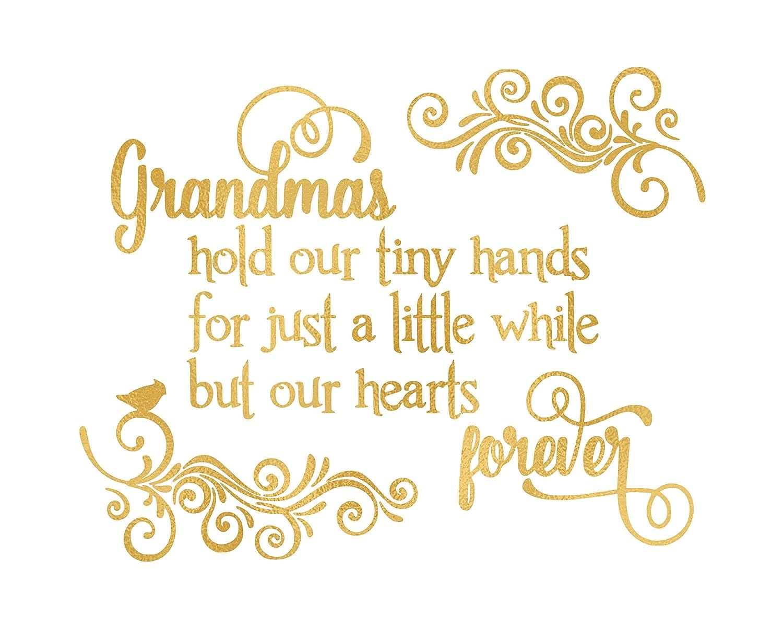 Amazon.com: Grandmas hold our hearts - Beautiful Gold Photo Quality ...