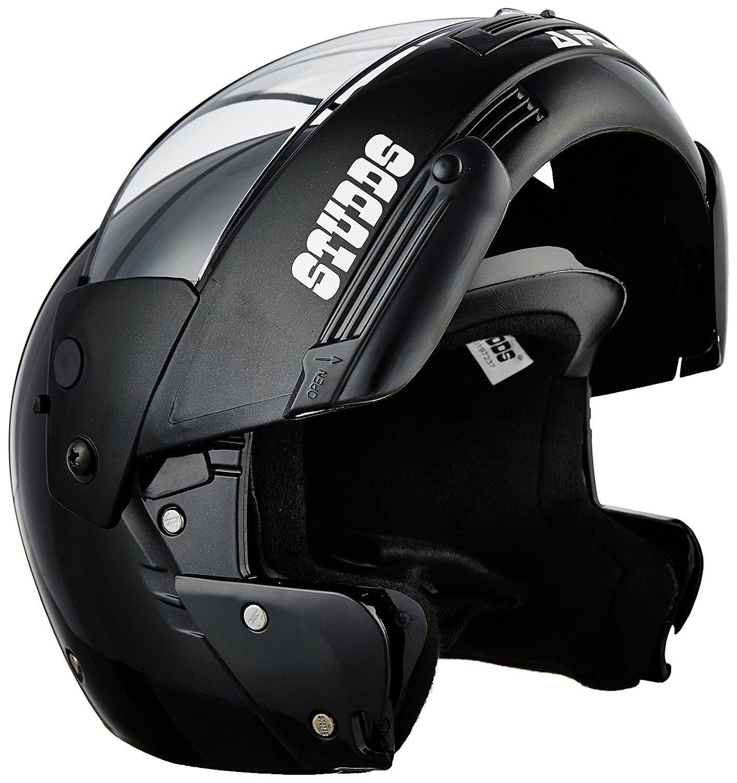 Enem Ninja Pastel Plain Flip Up Face Motorcycle, scooter Bluetooth Helmet