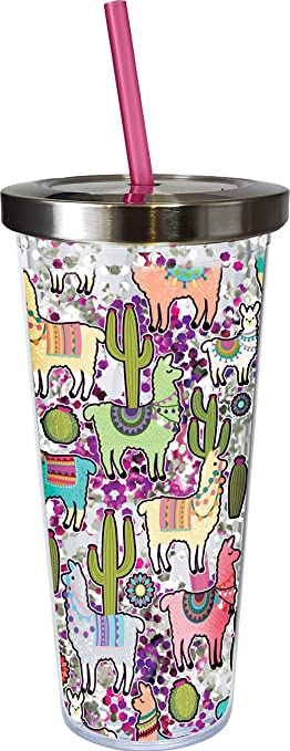 Llama Glitter Cup