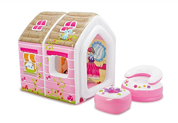 Intex - Casita hinchable Intex + sillón + puf 124x109x122 cm - 48635NP: Amazon.es: Juguetes y juegos