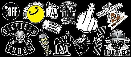 13 Roughneck Vinyl Sticker Pack #1 Premium Lamniated Vinyl