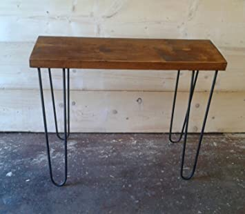 Vintage Industrial Side Console Table Rustic Bench With Hairpin Legs (900 X  300mm)