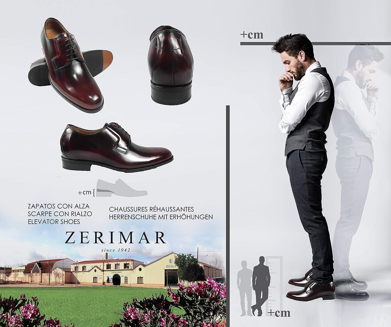 3726af6968c99 ... ZERIMAR Zapatos con Alzas Interiores para para Interiores Hombres  Aumento 7 cm