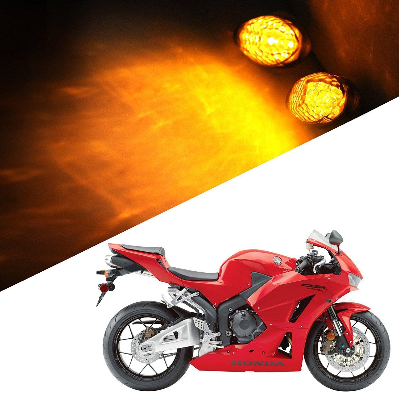 Smoke 2Pcs Super Bright Motorcycle Front LED Flush Mount Turn Signal Light Blinker Side Maker Lamp for Honda CBR600RR CBR1000RR CBR600F3 CBR600F4 CBR600 F3 F4 F4I