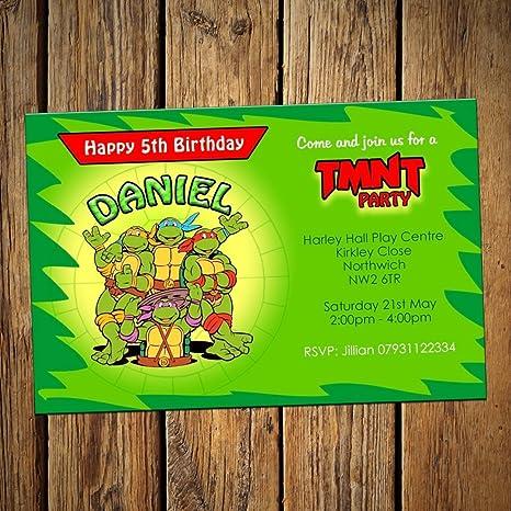 Tortugas Ninja invitaciones para cumpleaños (24 unidades ...