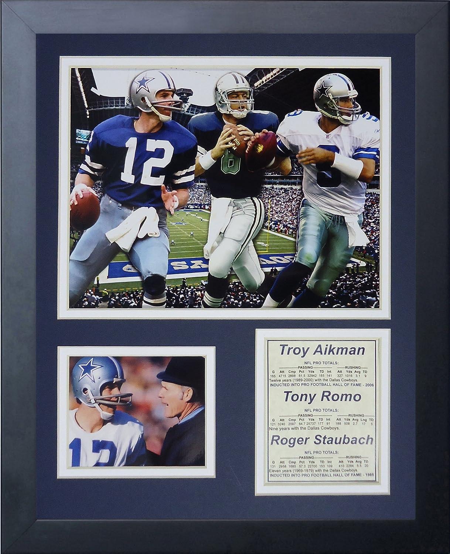 11x14-Inch Legends Never Die Dallas Cowboys Quarterbacks Framed Photo Collage