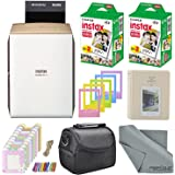 Fujifilm Instax SHARE Smartphone Printer SP-2 w/ 40 Sheets Instax Mini Instant Film, Photo Album, Mini Photo Frames, Paper Photo Frame, Small Case. and FiberTique Microfiber Cleaning Cloth