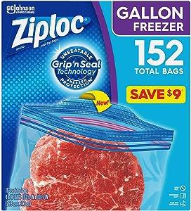 Ziploc Easy Open Tabs Freezer Gallon Bags (152 ct.) - 1 Pack