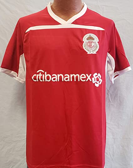0830a9032b4 Image Unavailable. Image not available for. Color  New! Club Deportivo  Toluca Generic Replica Jersey Adult XL 2018-19