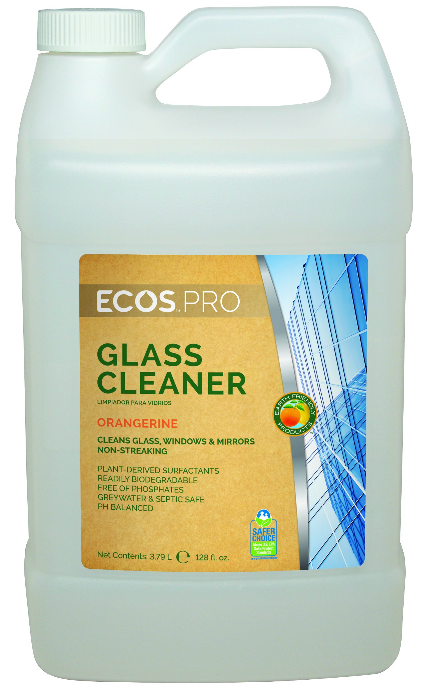 Earth Friendly Products Proline PL9362/04 Orangerine Window Cleaner, 1 gallon Bottles (Case of 4)