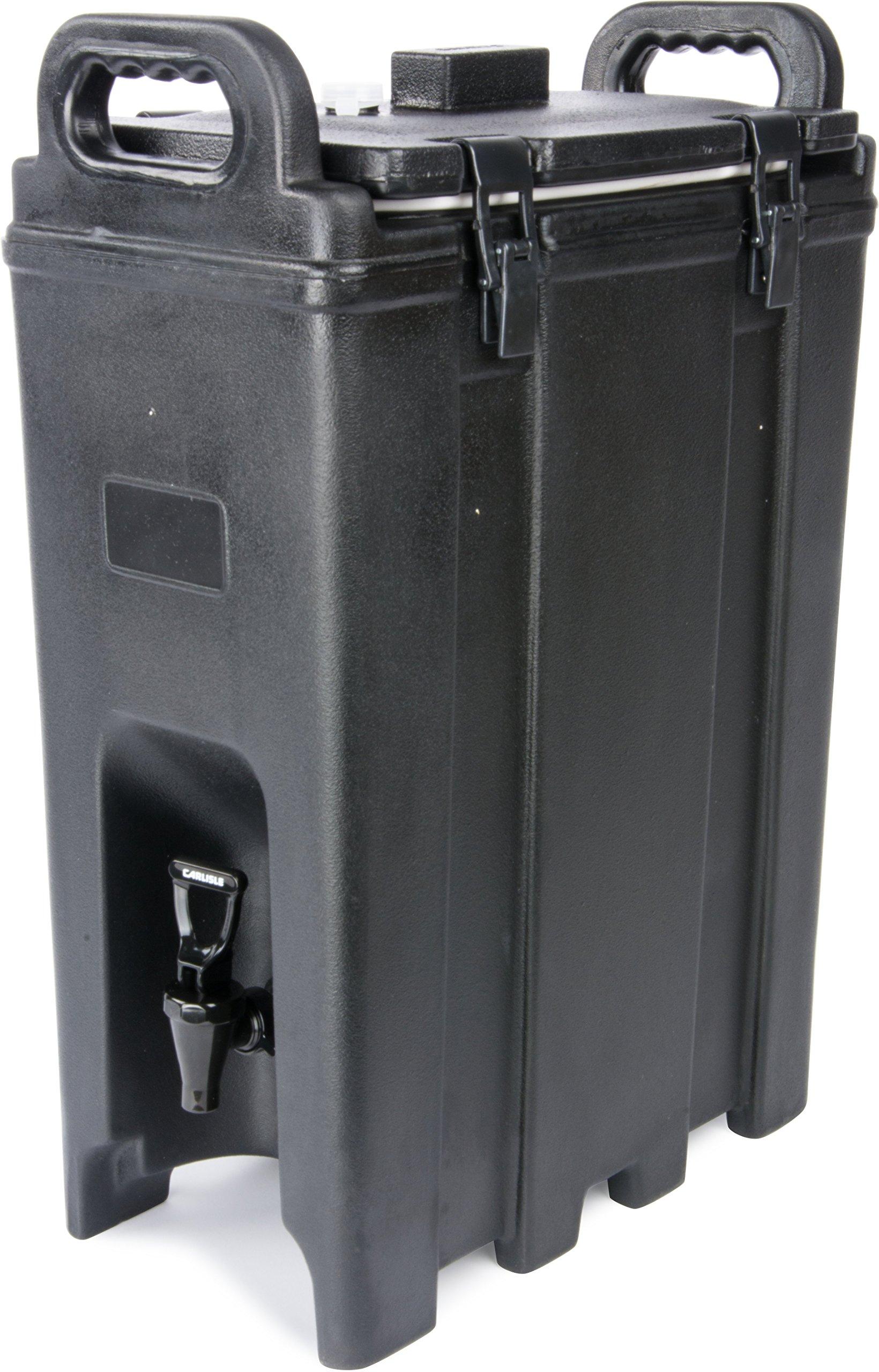 Carlisle LD500N03 Cateraide Polyethylene Insulated Beverage Server, 5 gal. Capacity, 16-3/8'' L x 9'' W x 24.20'' H, Black