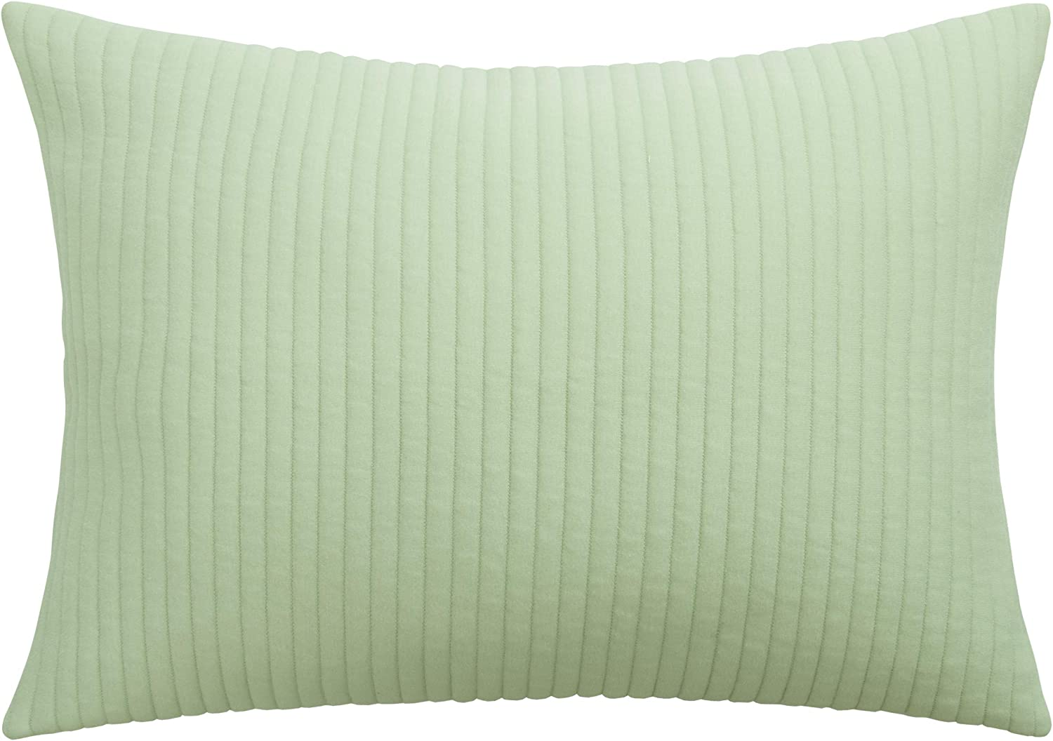 NTBAY Jersey Cotton Quilted Toddler Pillowcase, Super Soft and Breathable Zippered Closure Travel Pillow Cover, 13 x 18 Inches, Green