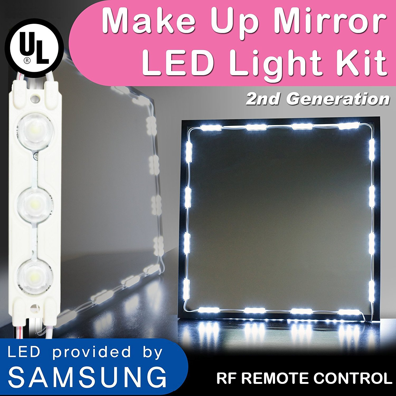 durable service Crystal Version Make Up Mirror Led Light, LEDTEEM Vanity Mirror Light Kit 2nd Generation With Dimmer and UL Power Supply, 10ft, 5050 Led Chip