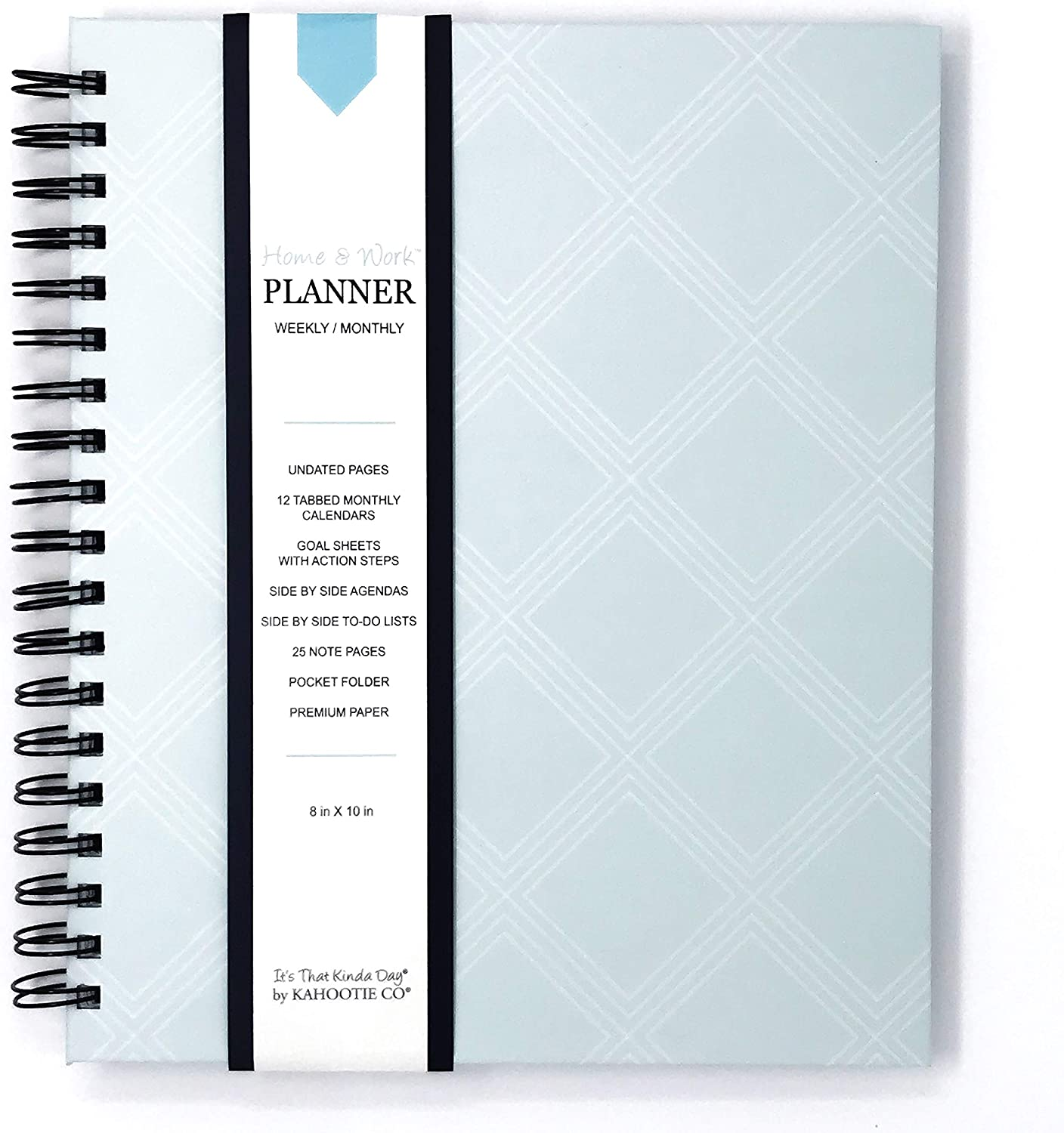 Home & Work Weekly/Monthly Planner by Kahootie Co - Stay Organized, Achieve Your Goals and Create Balance at Both Home and Work(Teal)