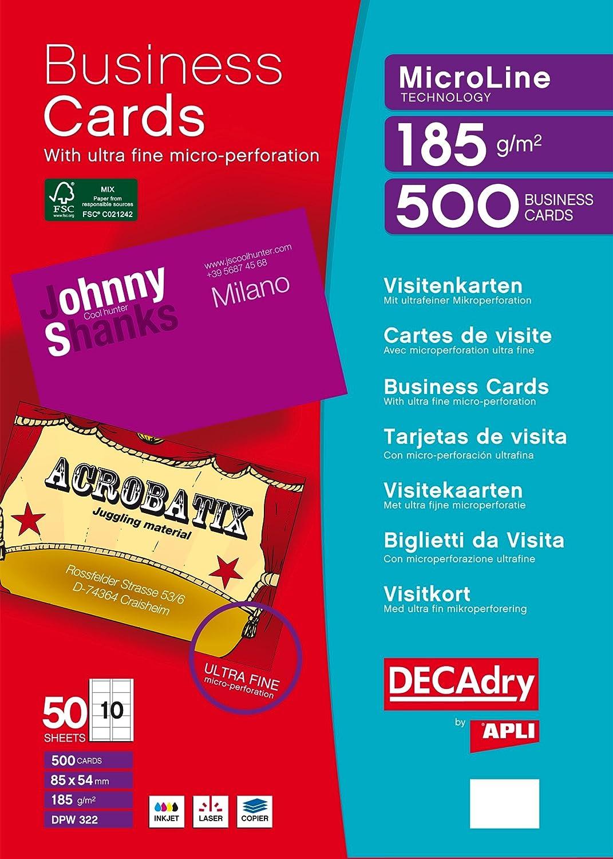 DECAdry DPW-322 500pezzo(i) biglietto da visita DPW322