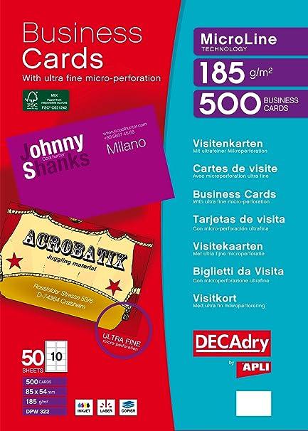 DECAdry DPW-322 500pieza(s) tarjeta de visita - Tarjetas de ...