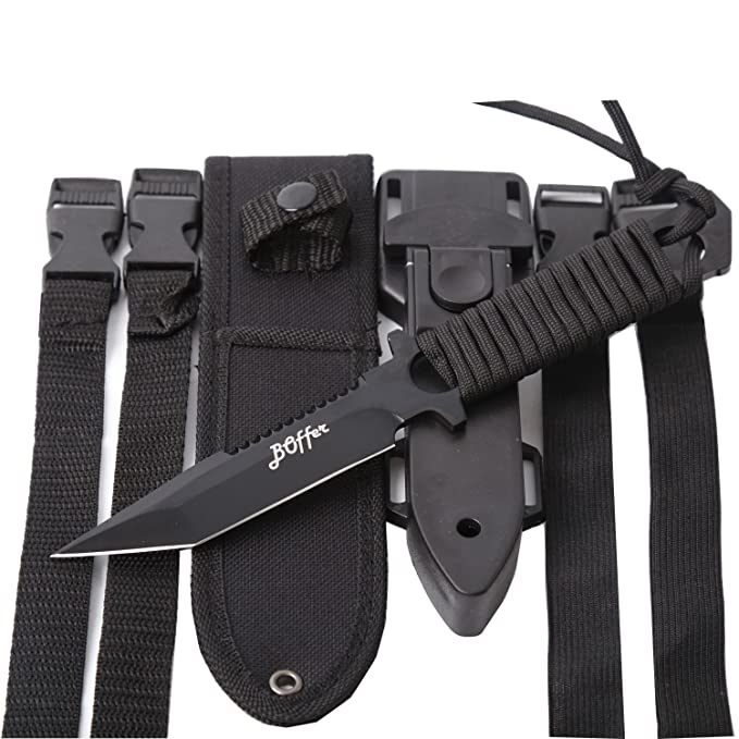 Amazon.com: BOffer cuchillo de buceo, cuchillo tá ...