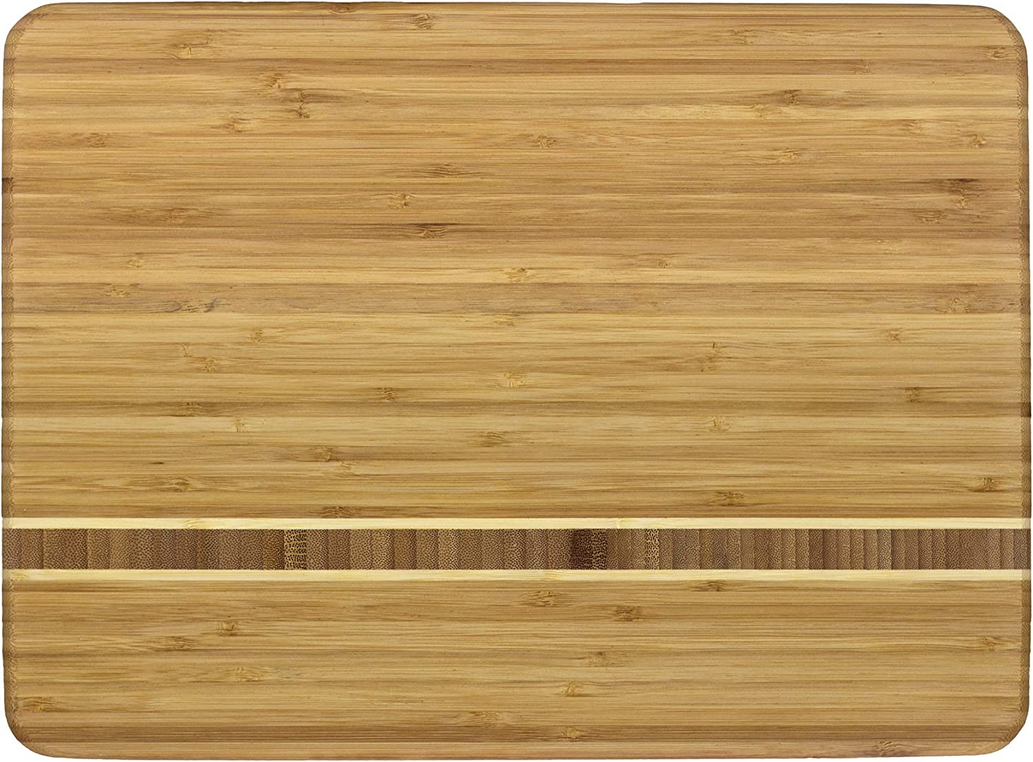 Totally Bamboo Martinique Bamboo Serving and Cutting Board, 15