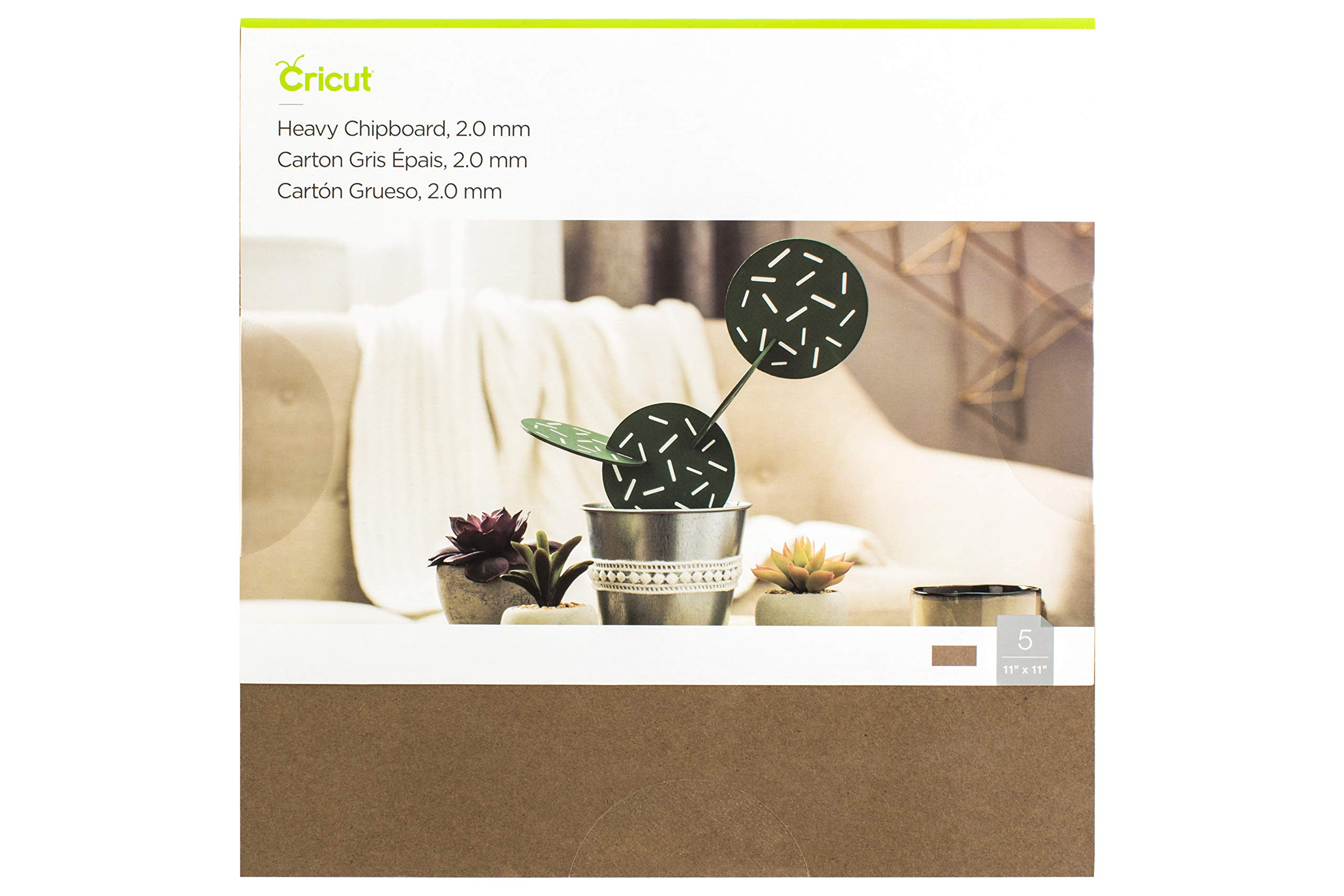 Cricut Heavy Chipboard, Brown, Pack of 5