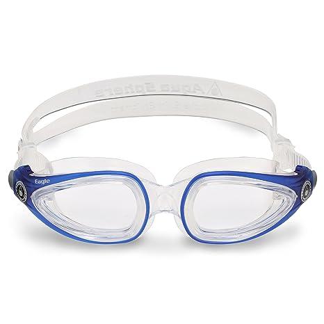 76da37dcfaf2 Aqua Sphere Eagle Swim Goggles with Clear Lens (Blue). Adult Prescription  Anti-