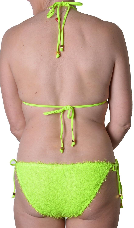 66989cc013989 River Island Tinsel Halter Bikini Set, Mix & Match, Lime Green, UK 14:  Amazon.co.uk: Clothing