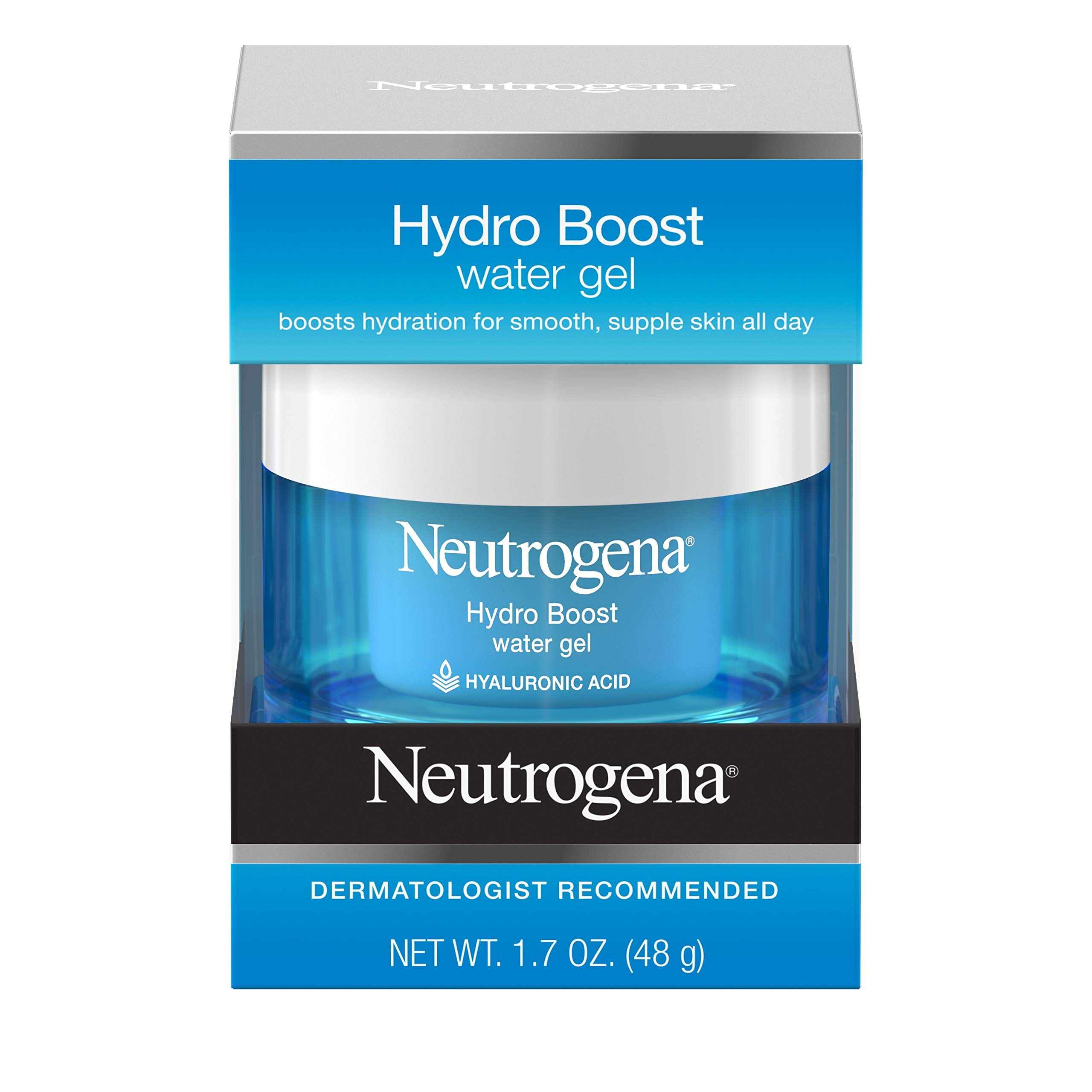 Neutrogena Hydro Boost Hyaluronic Acid Hydrating Water Face Gel Moisturizer for Dry Skin, 1.7 fl. oz by Neutrogena