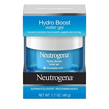 Neutrogena Hydro Boost Hyaluronic Acid Hydrating Water Face Gel Moisturizer  for Dry Skin, 1 7 fl  oz