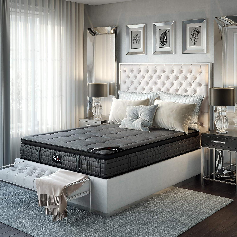 Savile Row No. 1 Premium Innerspring and Memory Foam Hybrid Euro Top 14.5 Inch Luxury Mattress, Twin XL