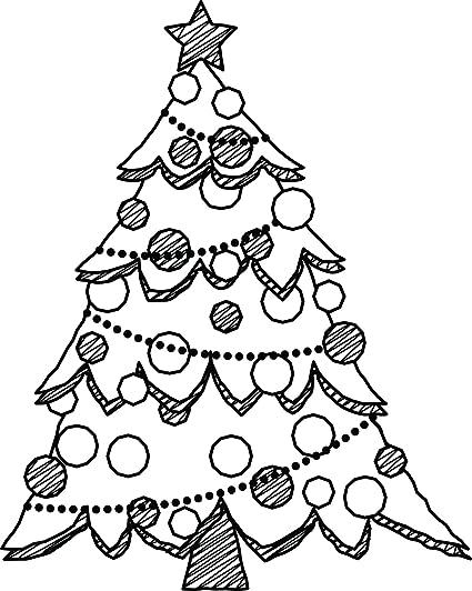 Amazon Com Christmas Tree Holiday Festive Decorations Cartoon Vinyl