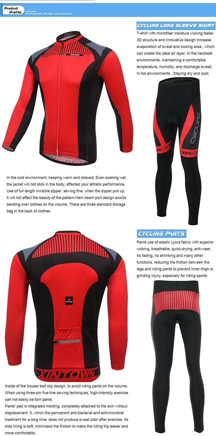2e356f643 BESYL Unisex Red Black Gray Printed High-Performance Mesh Cycling Clothing  Kit