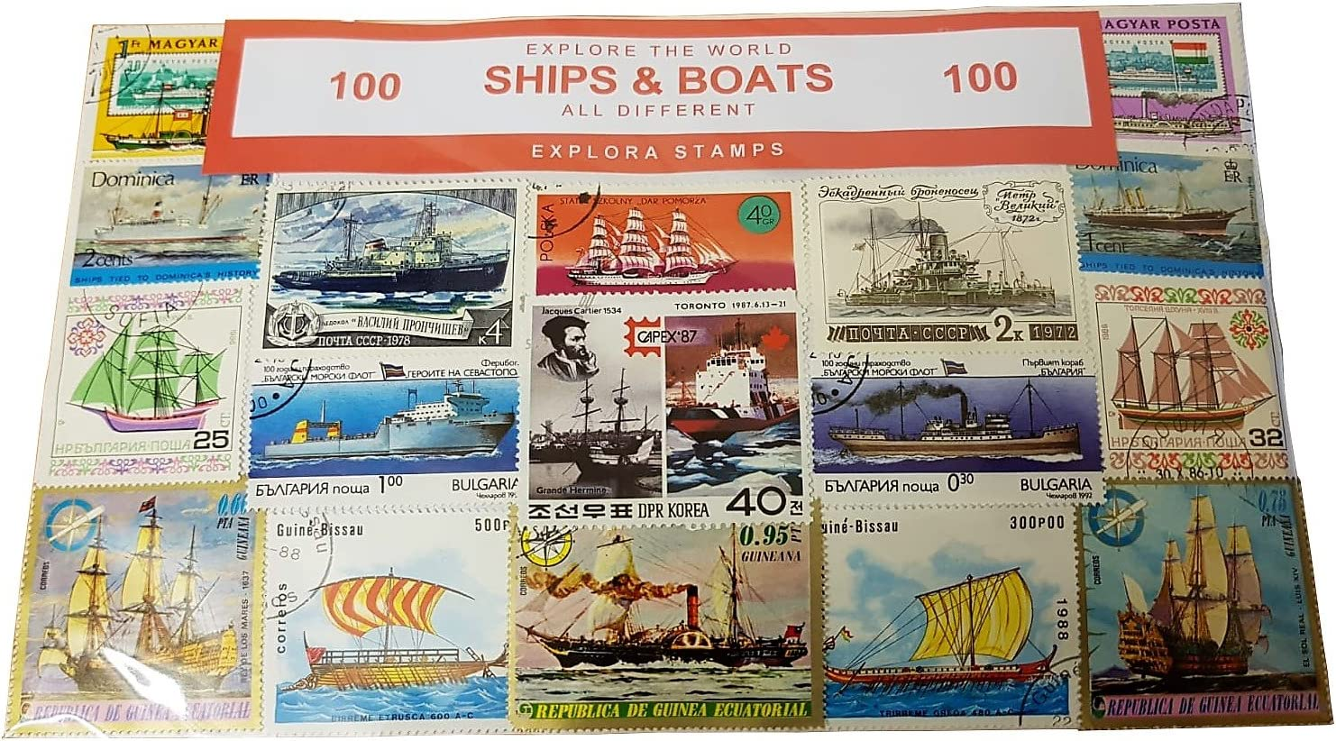 Explora Barcos del Mundo Conjunto De 100 Sellos Coleccionables ...