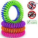 Premium Mosquito Repellent Bracelets by Cravegreens®, Pack of 10 - Pest Control Repeller - Up to 250Hrs of Insect Protection - Outdoor & Indoor, Wrist Bands for Adults & Kids -No Spray, Deet-free - All Natural Plant Oils
