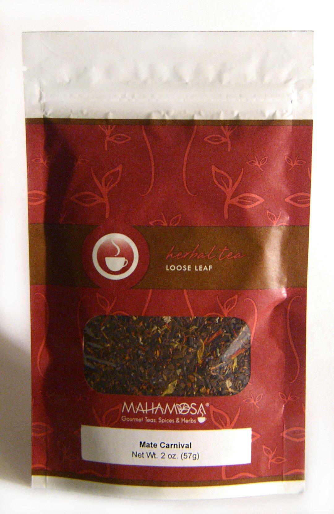 Mahamosa Yerba Mate (Coffee Flavor) Herbal Tea Blend Looseleaf (Loose Leaf) - Mate Carnival 2 oz by Mahamosa Gourmet Teas, Spices & Herbs