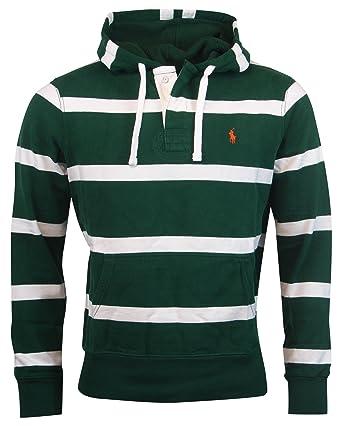 3d85965a4 Polo Ralph Lauren Men Striped Pony Logo Hooded Sweatshirt (XXL ...