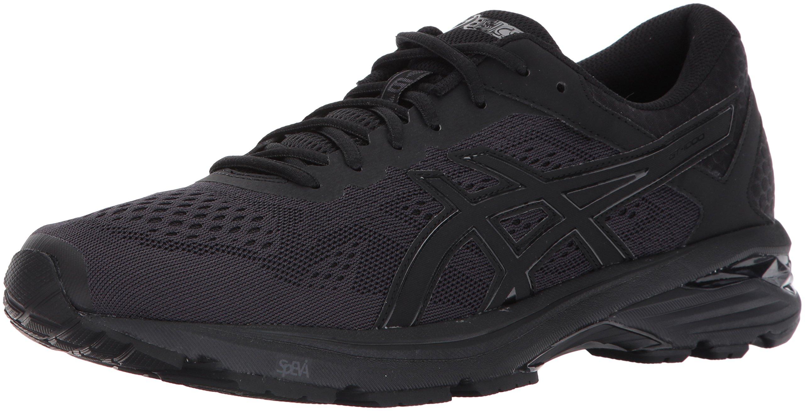 ASICS Men's GT-1000 6 Running Shoe, Black/Black/Silver, 10 Medium US