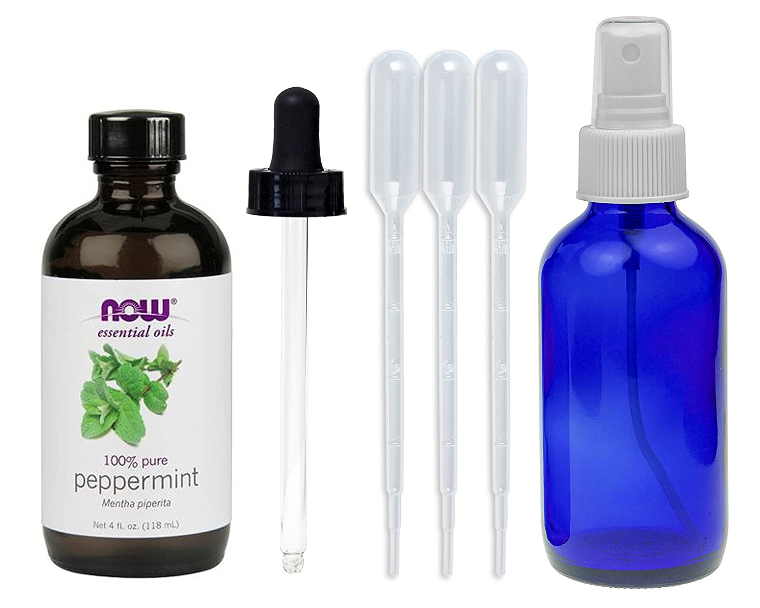 NOW Peppermint Essential Oil, 4-Ounce NOW Foods 7586