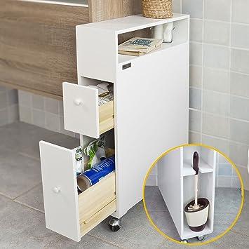 Meuble etroit wc resine de protection pour peinture for Meuble rangement wc