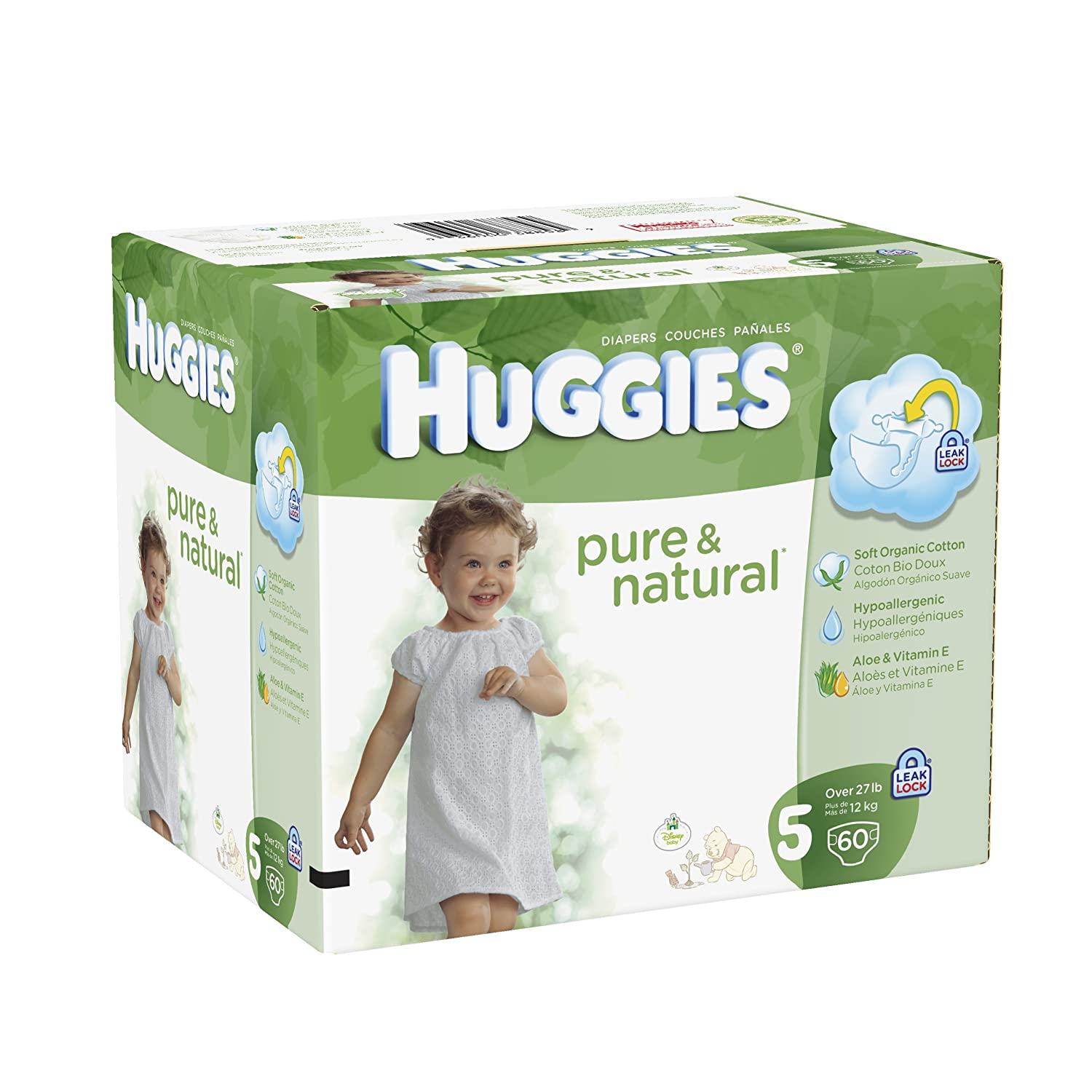 Amazon.com: Huggies Pure & Natural Diapers - Size 5 - 60 ct: Health & Personal Care