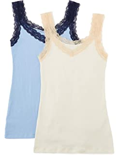 , Manufacturer size: Large Iris /& Lilly Womens Basic Stretch Vest Pack of 2 Blue Navy