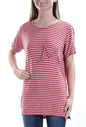 9f2ff433e5bccb Amazon.com  MAX STUDIO Womens Natalie Monogram Striped Pullover Top ...