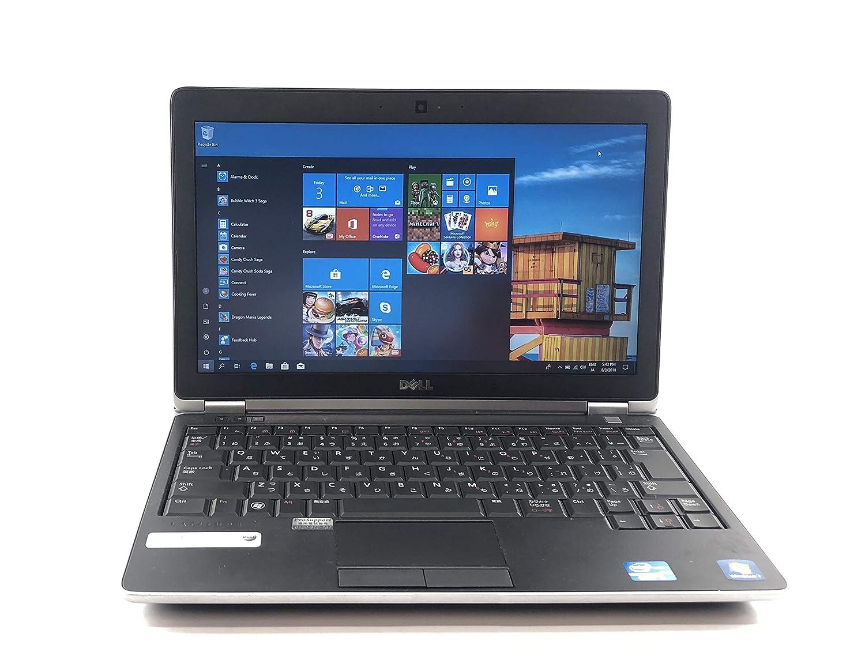中古 Dell English OS Laptop Computer, Intel Core i5 2.50 GHz, 6 GB, 250 GB, 12.5 Inch, Windows 10 Pro, Wi-Fi, Web-Cam, Used, 英語版OSノートPC, Dell E6220   B07G563SXG