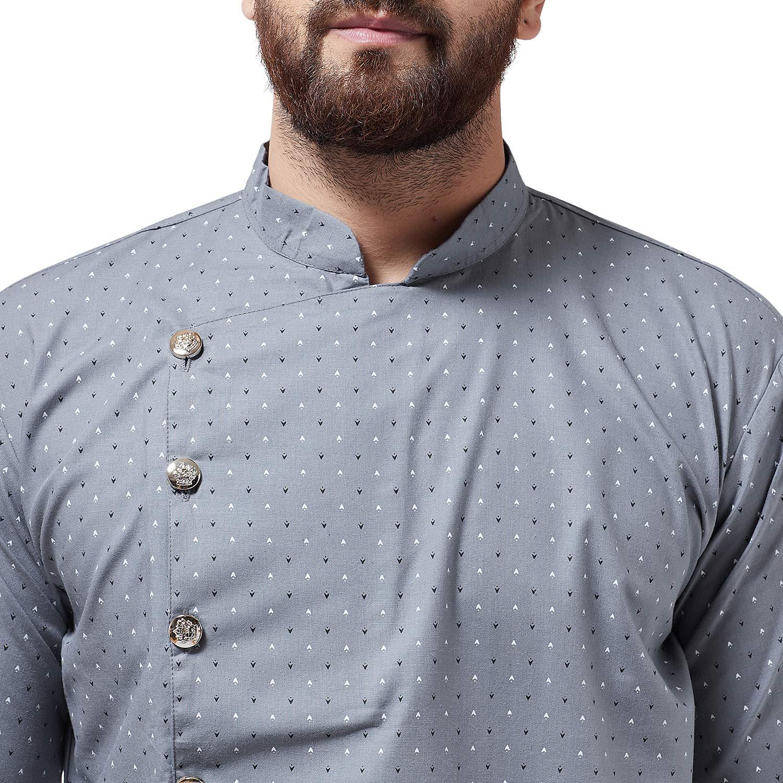 Bollywood-Indian-Kurta-Pajama-Dress-Tunic-Printed-Top-Men-Kurta-Ethnic-Wear thumbnail 22