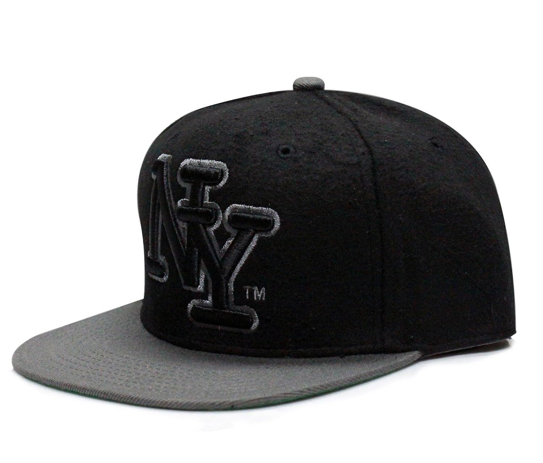 City Hunter cf1300 W inicial NY lana gorra – negro/gris oscuro ...