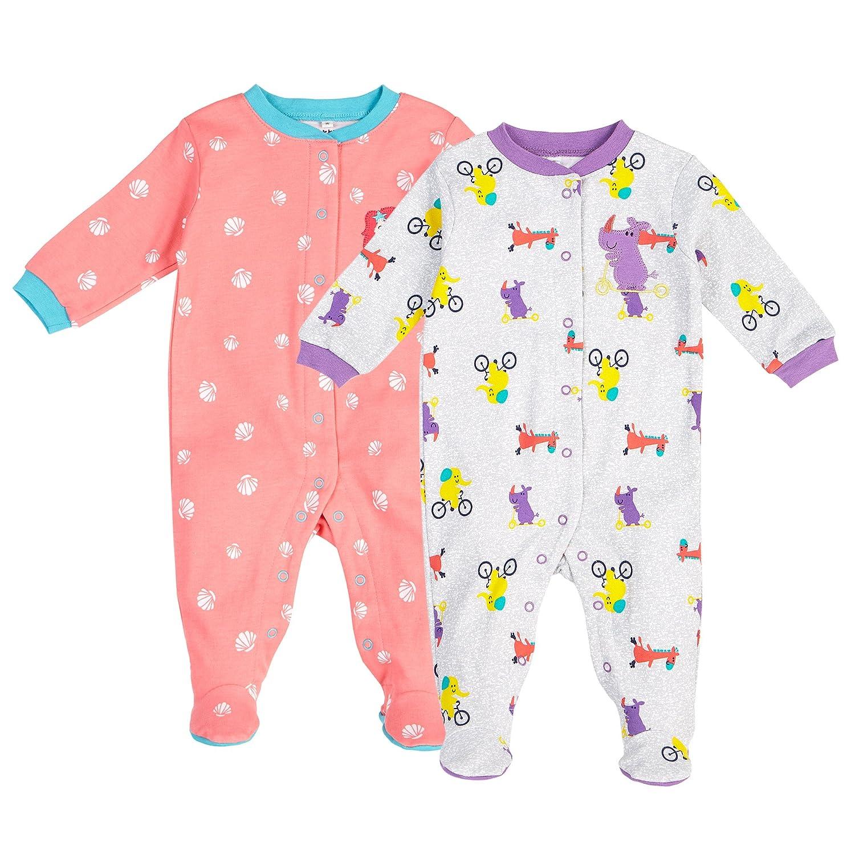 ce6858c9c4e4 Amazon.com  Pekkle Baby 2-Pack Footed Pajamas