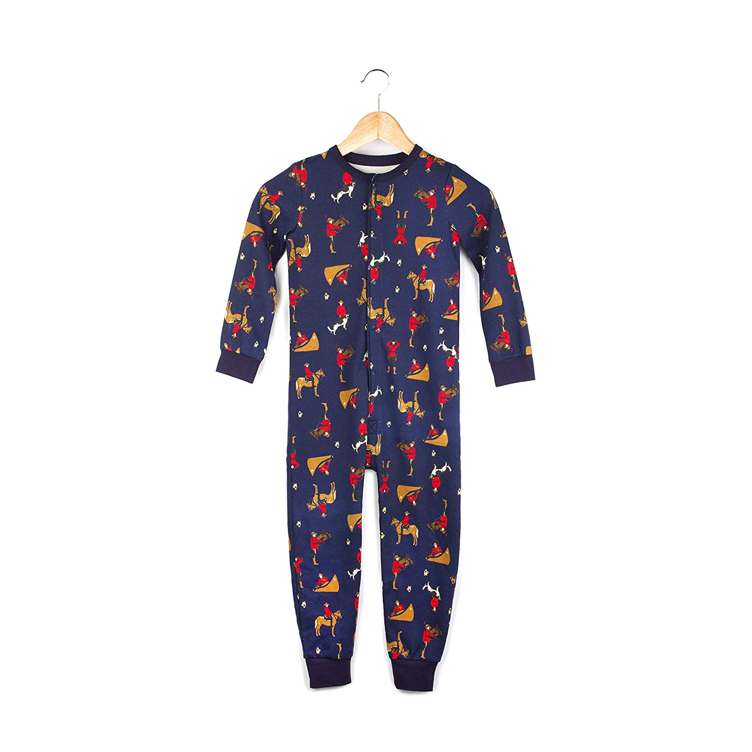 Drake General Store Kids Unisex Onesie One-Piece Footed Thermal Pajamas