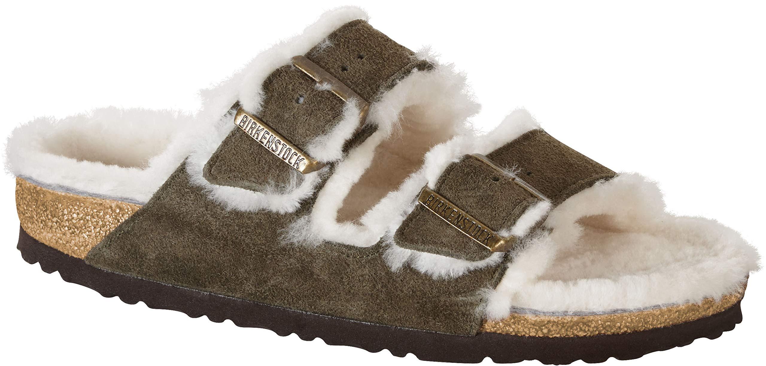 Womens Birkenstock Arizona Shearling Sandal Size 39 N Mink
