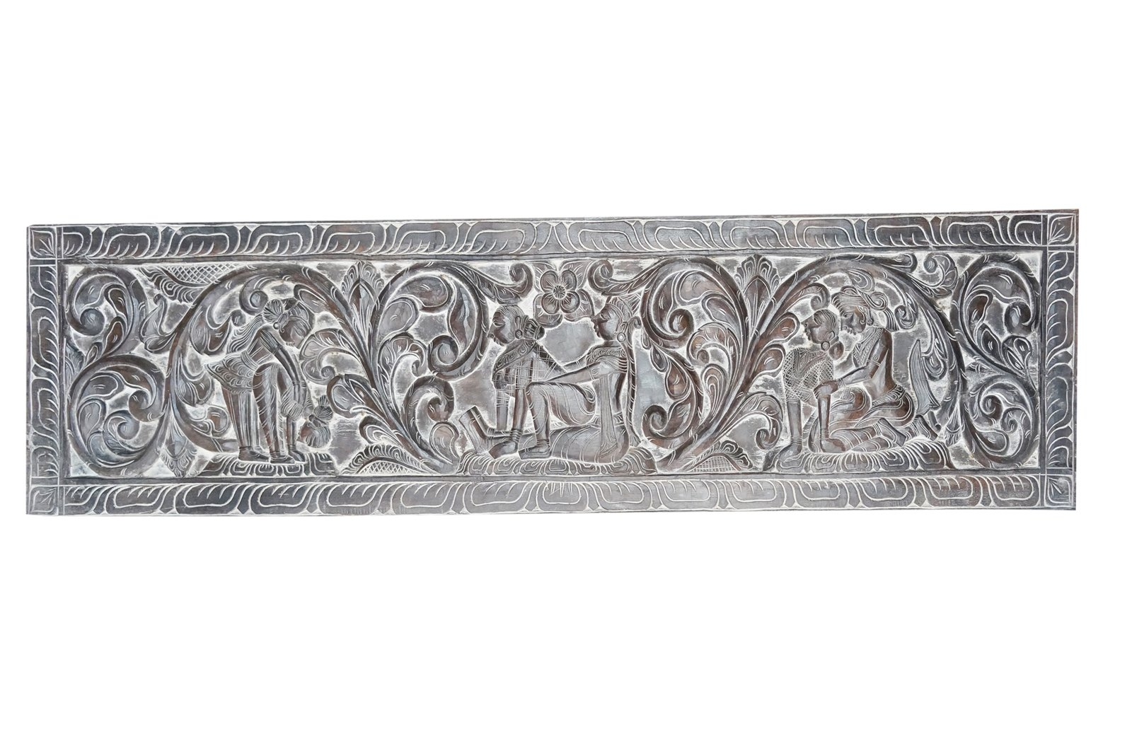 Kamasutra Handcarved Decorative Headboard the symbol of Love Vintage Wall Sculpture Eclectic Decor
