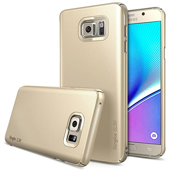 premium selection 4f5e0 ecb48 Ringke [Slim] Compatible with Galaxy Note 5 Case Extreme Lightweight & Thin  Cover [Snug-Fit] Side to Side Edge Coverage Superior Coating PC Hard Skin  ...