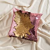 """Amazon Price History for:16""""x16"""" with INSERT Mermaid Sequin Pillow with Color Changing, Reversible Flip Sequins. Perfect Throw Pillow for Home Decor and Holiday Gifts- Gold Pink"""